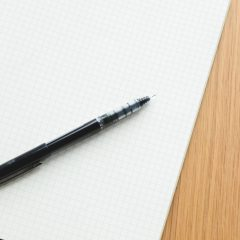 a pen on paper