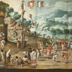 Folding Screen with Indian Wedding and Flying Pole (Biombo con desposorio indígena y palo volador)