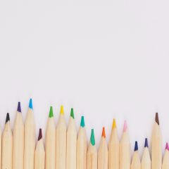 pencil crayons colourful